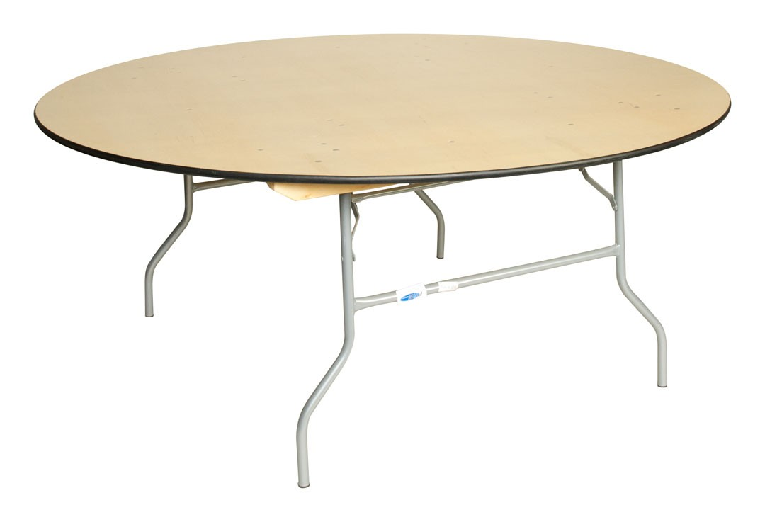 Round Wood Table, 72 In.